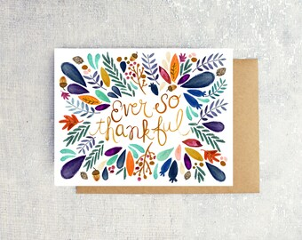 Ever So Thankful: Single Card