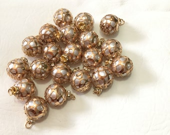 Goldtone Faux Pearl Charms (20 Charms) CLOSEOUT!!! 20mm