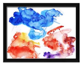 Wall decor, Art print, watercolour, artwork,