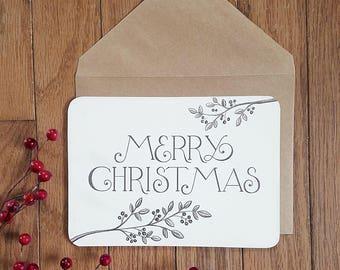 Rustic Christmas Card - Printable