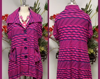 New Designer High fashion Plus size Tunic, Blouse, Lagenlook Top with  Front two Pockets .