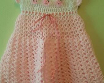 Hand made crochet dress