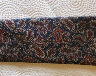 Vintage Guy Laroche Men's Silk Tie - Made in U.S.A. - Paisley on Black Background