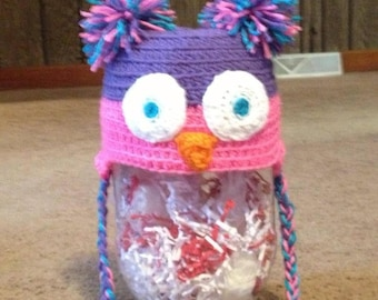 Colorful Cute Owl Crochet Hat