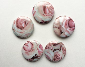 Roses 1 inch pinback button pack