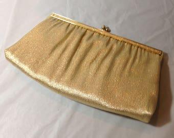 Vintage Goldtone Andi Clutch Handbag