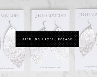 Sterling Silver Fish Hook Earring Upgrade