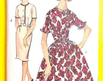 Spring Sale Advance 2969  early 1960s Junior and Misses' Dress Two Skirts Vintage Sewing Pattern Bust 33 Hip 35