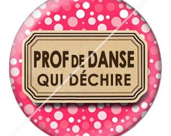 resin cabochon mounted on a stick dance teacher 11 25 mm