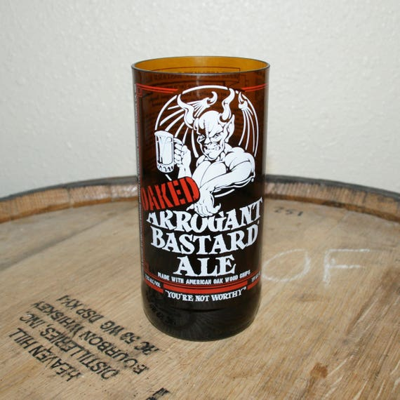 UPcycled Pint Glass - Stone Brewing Co. - Oaked Arrogant Bastard