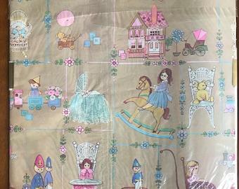 Retro Wrapping Paper:  Vintage Childs Wrap, Retro Gift Wrap, Baby Gift Wrap, Childs Gift Wrap, Gender Reveal Wrap, Vintage Gift Wrap