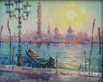 Venice(24x30sm size, cityscape, oil painting, ready to hang, modern art)