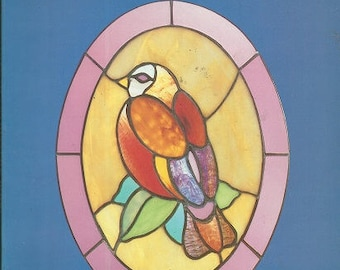 Vintage Connie Eaton OVAL STAINED GLASS Pattern Book - 60 Full-Page Designs - c. 1984