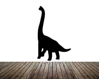 """Wall Decal Sticker Removable Brontosaurus 91"""" Tall 65""""wide in White or Black"""