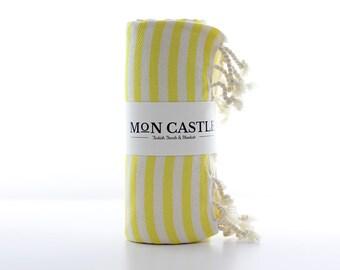 Mediterranean   Yellow   Beach Towel   Bridesmaid Gift   Peshtemal   Turkish Beach Towel   Turkish Towel   Beach Towel   Bridesmaid Towel