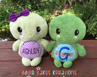Plush Turtle - Stuffed Turtle - Personalized - Boy Turtle - Girl Turtle - Gift for Kids - Nursery Decor - Baby Shower Gift - Toy Turtle