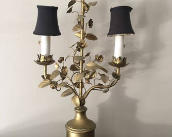 Vintage Italian Gilt Leaf lamp