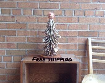Tabletop Tree/Shabby Chic Centerpiece/Farmhouse Decor/Cabin Tree Decor/Mantle Tree/Clothespin Tree/Shabby Chic Tabletop Tree/Upcycled Decor