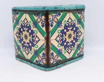 Boho Design Scented Soy Candle - Aqua