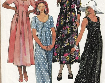 """Flowing Jumpsuit or Dress Sleeve Variations McCall's 6315 Size 10-12-14 Bust 32.5-34-36"""" Waist 25-26.5-28"""" Hip 34.5-36-38"""" Uncut"""