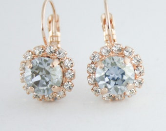 Something blue,Swarovski blue shade,crystal earrings,blue crystal earrings,blue bridal earrings,blue wedding,swarovski,blue bridesmaid,blue