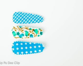 Baby Snap Hair Clips- Blue