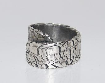 Ring Silver Broken Earth R106