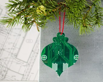 Circuit Board Ornament, Computer Programmer Ornament, Software Engineer, Computer Science Gift, Christmas Ornament, Techie Stocking Stuffer