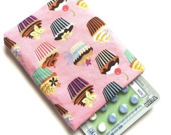 Limited Quantity - Pill Case Birth Control Cozy - Pretty Cupcakes