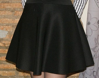 Black Neoprene skirt