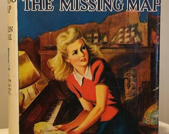 Nancy Drew - The Quest of the Missing Map by Carolyn Keene Tweed in Dust Jacket