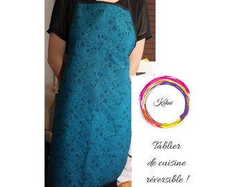 Apron with turquoise designs