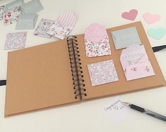 Mini envelope Wedding guest book | mini envelopes | rustic wedding | shabby chic wedding | wedding scrapbook | baby shower guest book | vint