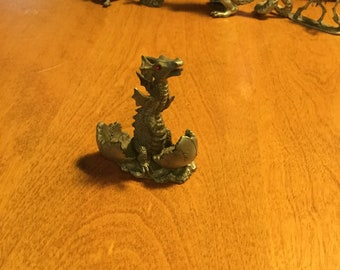 Pewter dragon mini set