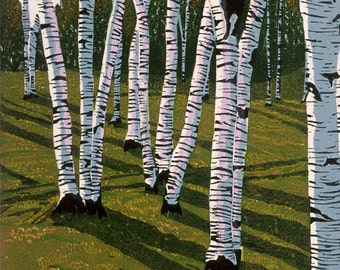 Grove  Woodblock print