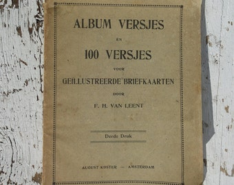 Album covers * + FRESHS for illustrated postcards/F.H. of LEEMT/antique vintage Retro/3rd Print/Poetry album/Rotterdam 1899