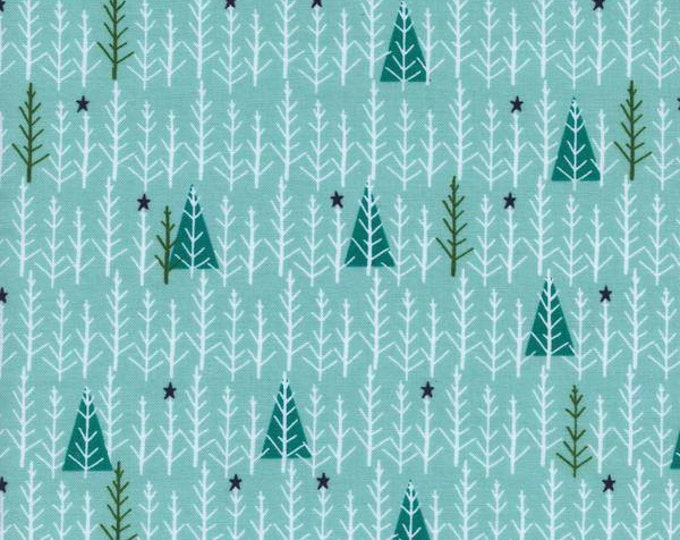 Garland by Cotton + Steel - Tree Day Mint - Cotton Woven Fabric