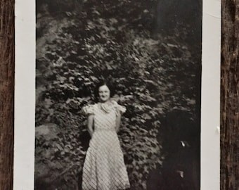 Original Vintage Photograph | The Girl Amid the Pines