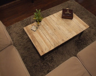 Pine - Rail Road Track Coffee Table