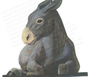 Donkey - Individual Figure for DIY Full Size 16pc Outdoor Christmas Nativity Scene INSTANT Digital Download