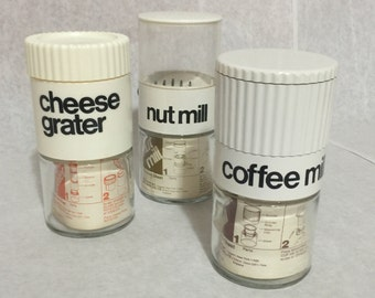 Amazing Trio of 1970s Kitchen Tools Manufactured by Gemco Ware