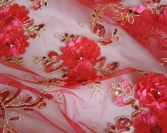 1 meter of fabric hand-made Designer