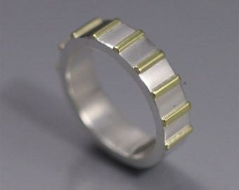Striped Ring 14k (made to order)