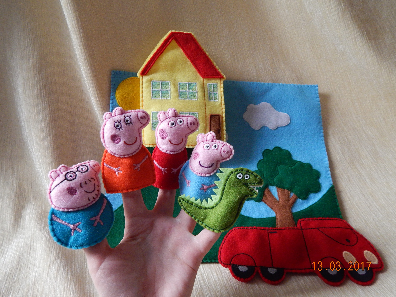 Juego de play de marioneta de dedo Peppa Pig. Juguetes Peppa