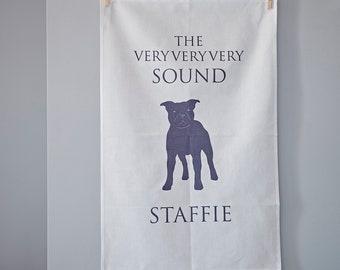 Staffie Tea Towel - Staffie gift-  Staffordshire Bull Terrier - staffie - staffie present - staffie birthday - staffie love - staffie design