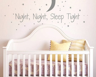 Night Night Sleep Tight Childrens Wall Sticker