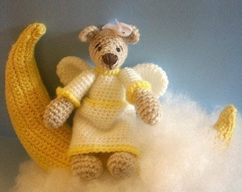 Instant Download - PDF Crochet Pattern - Angel Bear