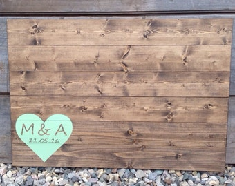 wood guest book, wedding guest book, guest book, wedding guestbook, rustic guest book, custom guest book, guestbook, initials and date 30X20