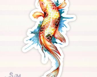 Koi Fish 1 vinyl sticker