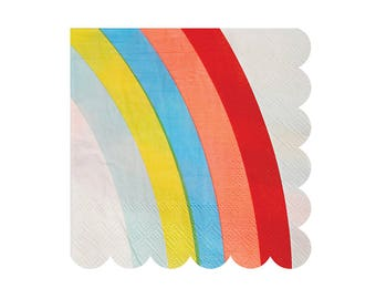 Meri Meri Rainbow scallop napkins set of 20